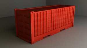 old container 3d 3ds