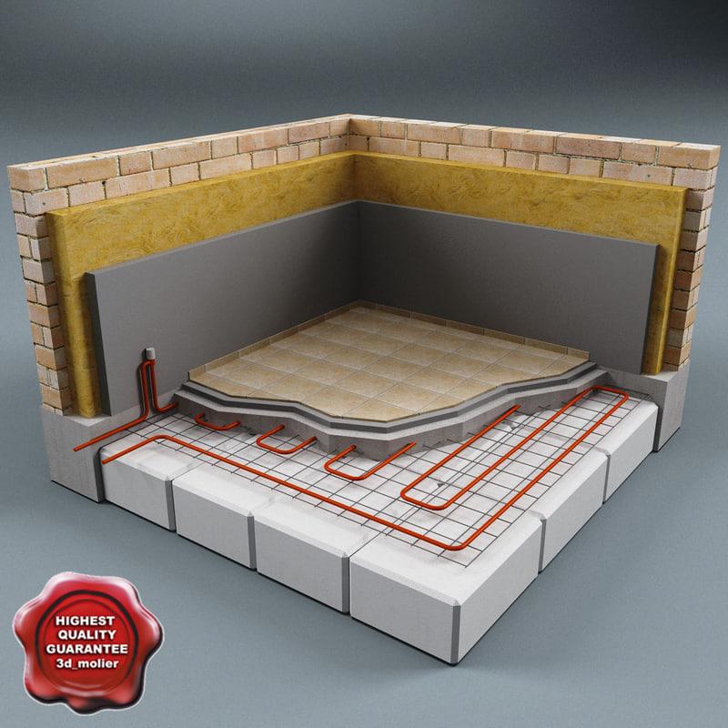 3d floor heating