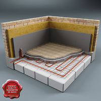 3d floor heating