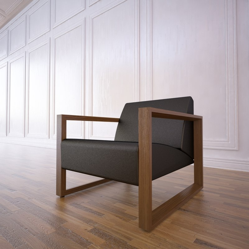 3d model of chair neutra