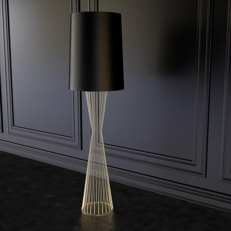 tulip lamp la 3d model