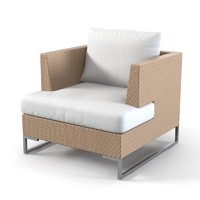 luxor lounge chair 3d 3ds