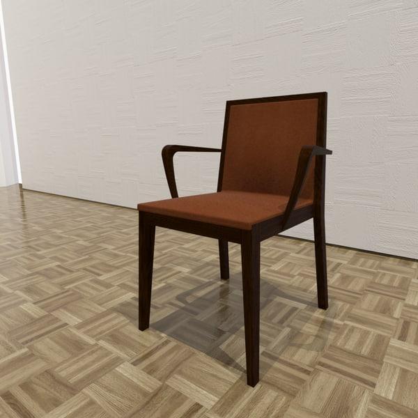 3d rio chair model