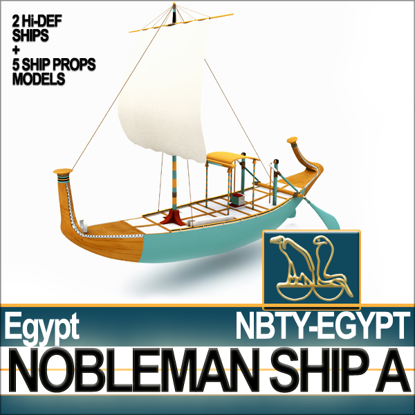 ancient egyptian nobleman ship 3ds