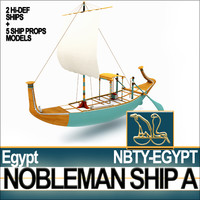 Ancient Egyptian Nobleman Ship & Naval Props