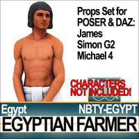 Props Set Poser Daz for Ancient Egyptian Farmer