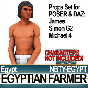 props set daz egyptian 3d model