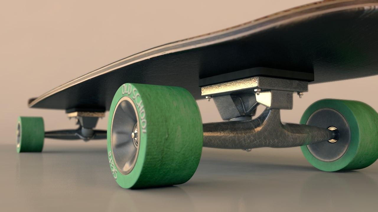 wheel old school 3d model