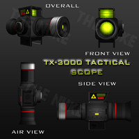 3d model tx-3000 scope tactical