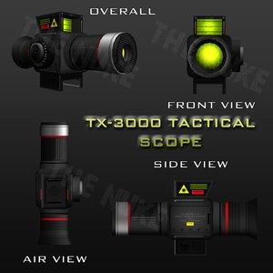 3d model tx-3000 scope tactical