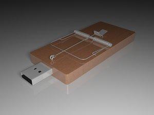 3d usb mousetrap
