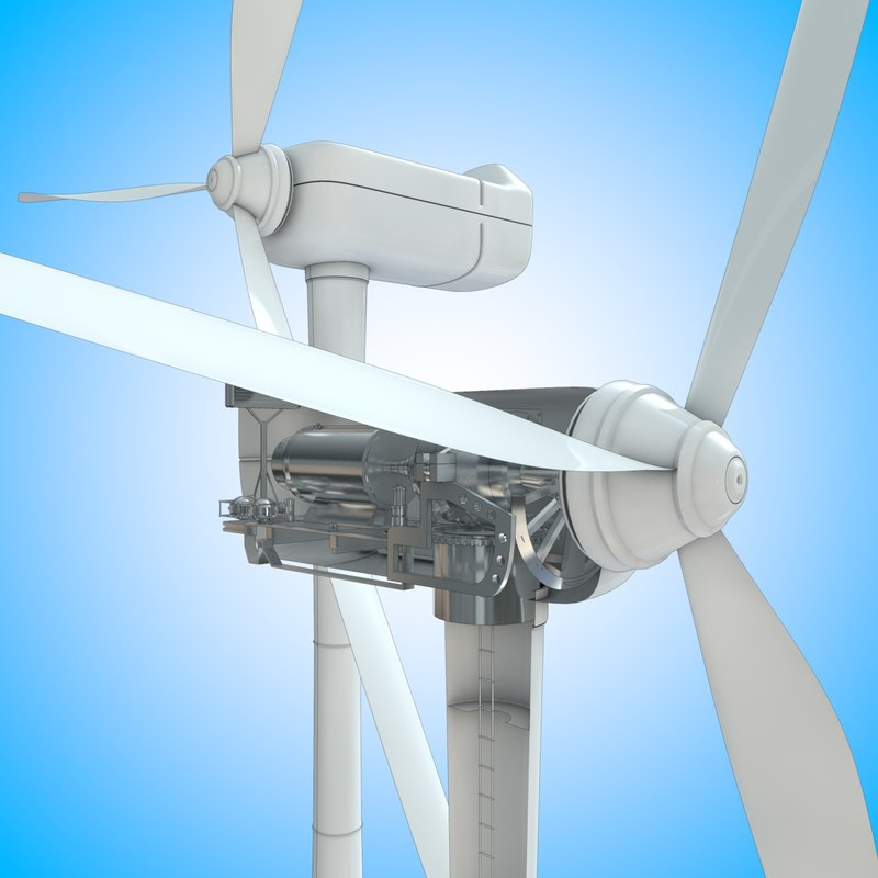 windmill turbine 3d model
