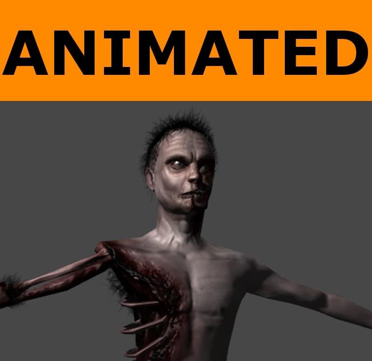 3d x ready zombie animations