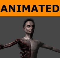 Animated Low Poly Zombie