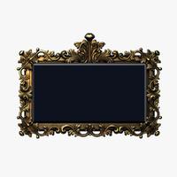frame baroque obj
