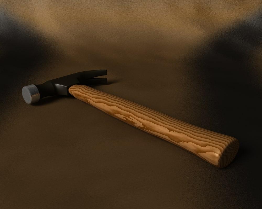 free claw hammer 3d model
