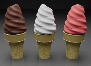 ice cream cone 3d 3ds