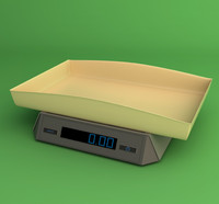3d model infant scale
