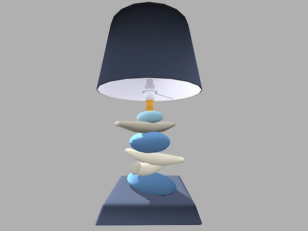 blue lamp 3ds free