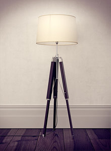 3ds max tripod lamp