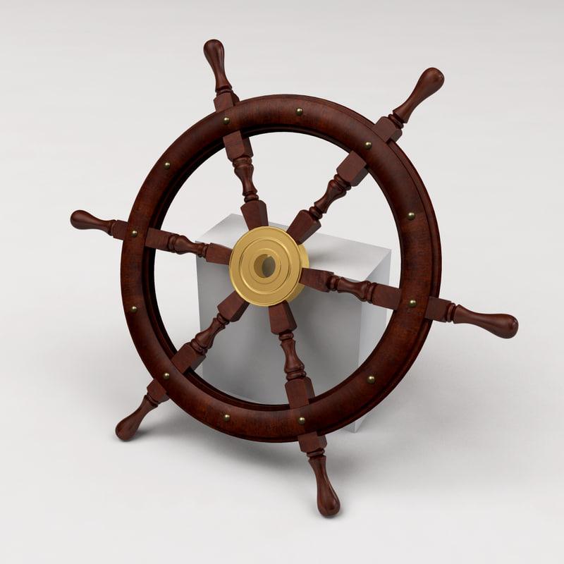 ship s wheel 3d 3ds
