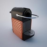 3d nespresso pixie model