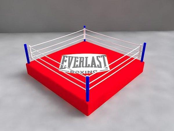free boxing ring 3d model
