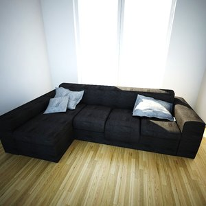 3d modular sofa chaise longue