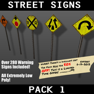 3d pack warning signs