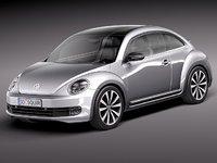 volkswagen beetle 2012 3d c4d