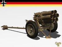 3d lwo german 15 cm nebelwerfer