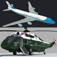 Boeing Air Force One and Marine One