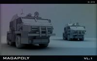 truck car military 3d model