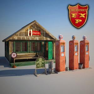 maya gas station old