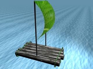 free makeshift raft 3d model