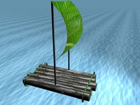 free makeshift raft 3d model