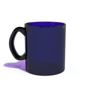 glass cup glassware 3d model