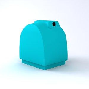 3d model bottle recycling bin