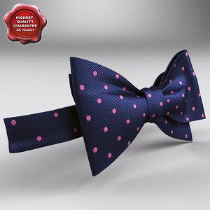 maya bow tie blue