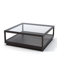 Ceccotti ICs glass square coffee table  modern contemporary