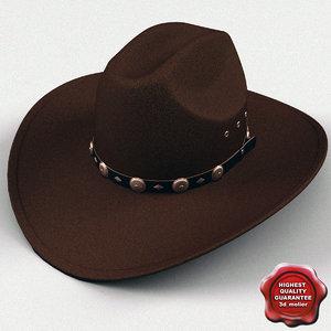 cowboy hat v4 3d obj