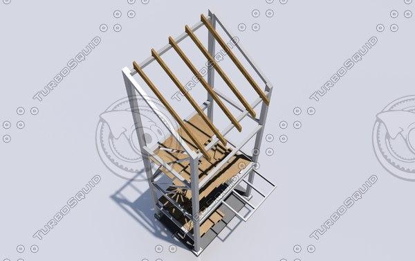 structural external stair dwg