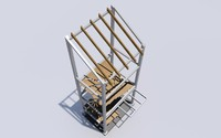 structural external stair dwg