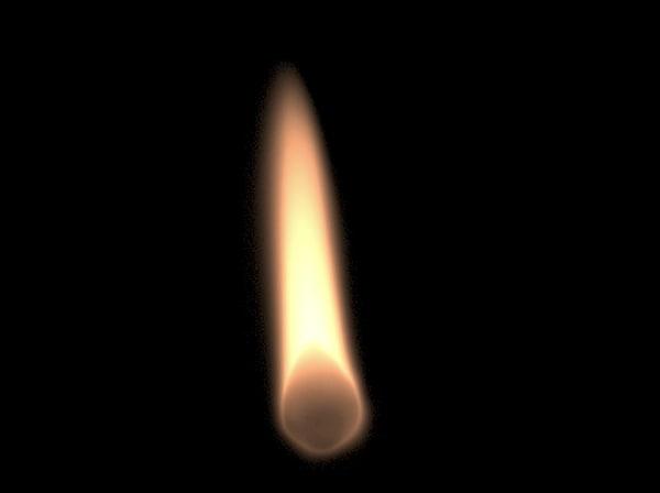 3d flame zippo match model