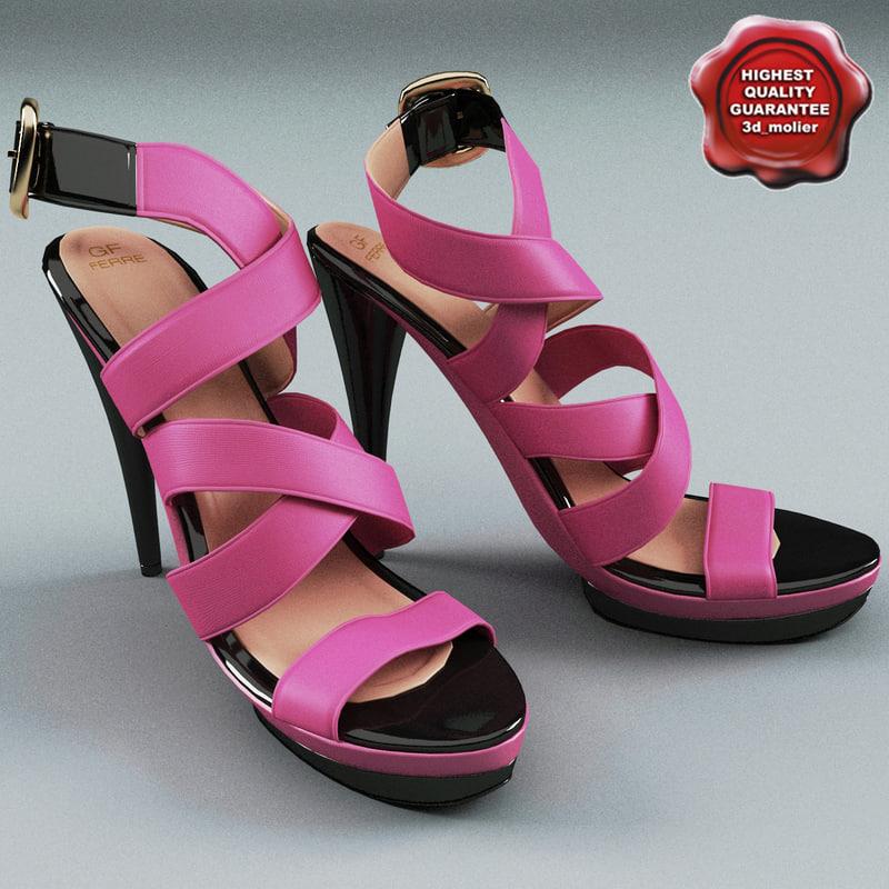 3d model gianfranco ferre shoes pink