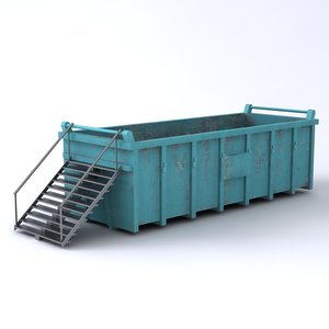 3ds max large garbage container