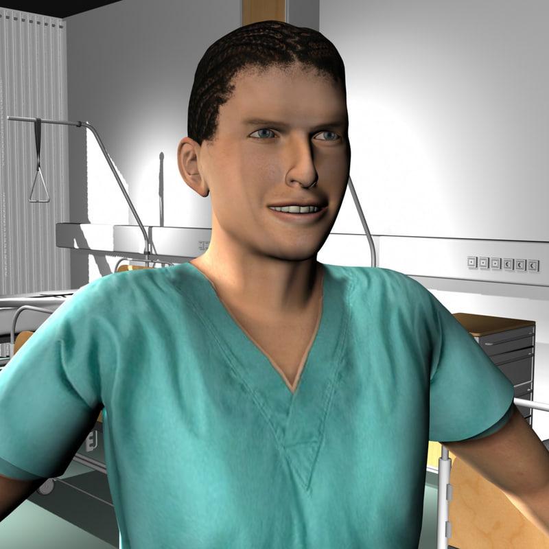 3d ma male medical staff