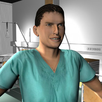 3d ma male medical staff