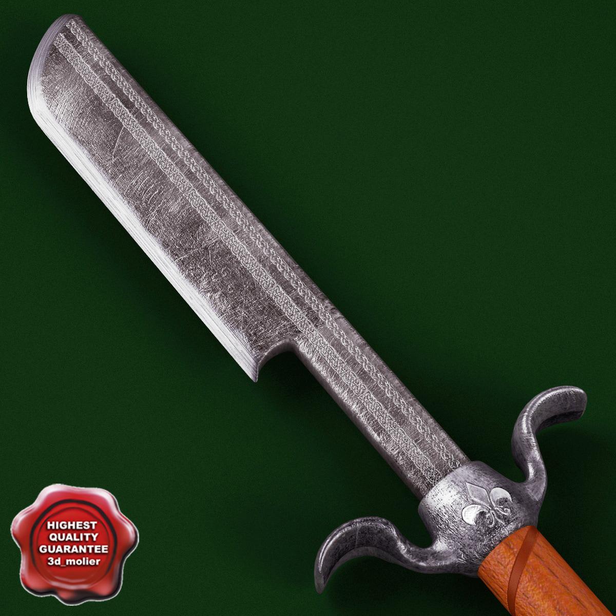 3d medieval axe v9