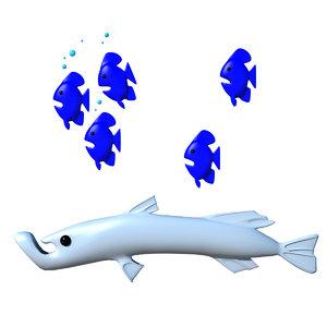 maya cartoon fish